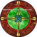 Celtic Stained Glass Window Film