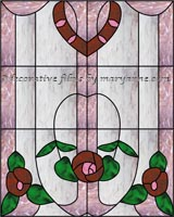 Traditional Stained Glass Window Film