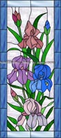 Flower Stained Glass Window Film