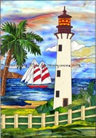 Lighthouse And Boat Decorative Patterns